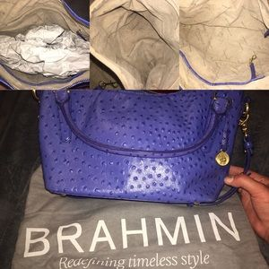 Brahmin blue hand bag